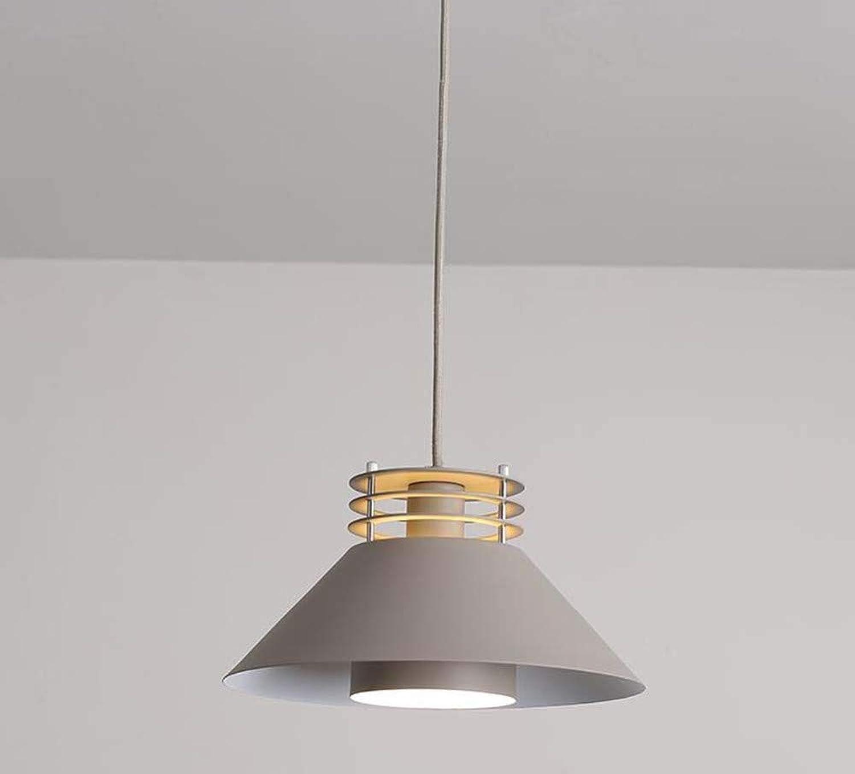 Pendelleuchte Einfach Installieren Kronleuchter E27 Basis Eisen Licht Abdeckung Moderne Minimalistische Bar Lampen Nordic Restaurant Lichter Esszimmer Home Beleuchtung,Grau