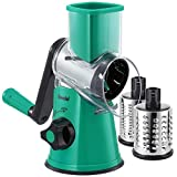 Geedel Rotary Cheese Grater, Kitchen Mandoline Vegetable Slicer with 3...