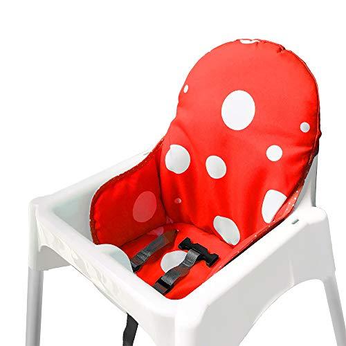 ZARPMA bebe Cojines para de Ikea Antilop Trona ,Lavable, Plegable, Silla Alta Cojines para Bebé
