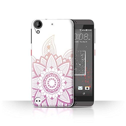 Stuff4® Hülle/Hülle für HTC Desire 630 / Rosa Henna Blume Muster/Ombre Muster Kollektion