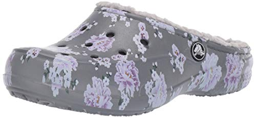 Crocs Freesail Printed Lined Clog Women, Zuecos para Mujer, Multicolor (Floral/Pearl White 96m), 37/38 EU