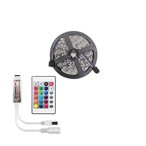 DZHT Tira de LED RGB Led Light Tape SMD 2835 DC12V Impermeable Luz LED 5m 10m Cinta Flexible (Distancia de Control 5 M) (Color : Waterproof, Size : 5M Full Set)