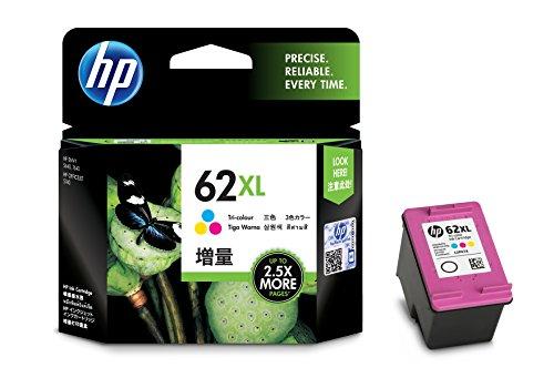 Original Tinte HP 62XL, 62XLC, 62XLCOLOR, NO62XL, NO62XLC, NO62XLCOLOR C2P07AE - Premium Drucker-Patrone - Cyan, Magenta, Gelb - 415 Seiten