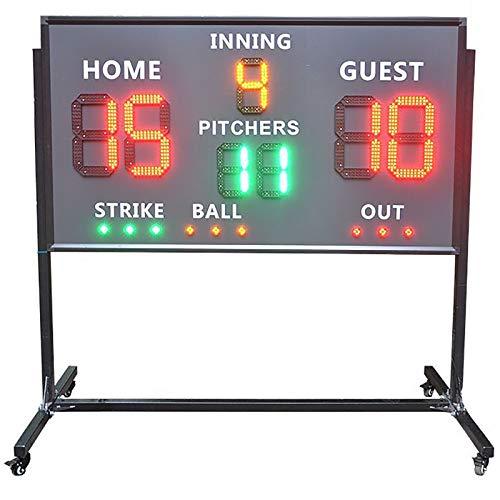 KCCCC Puntuación portátil Puntuación LED Puntuación LED Digital Marcador de Béisbol Marcador de la Rueda para fútbol de béisbol (Color : Black, Size : 160x90x7.5cm)