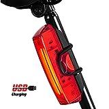 Rioddas Fanale Posteriore Bici. Luce in Bicicletta USB Ricaricabile per Bicicletta 6 modal...