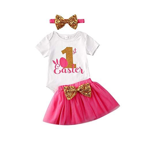 Breed 3 Stks Baby Meisje Rok Set Lettler Print Korte Mouw Top T-Shirt Strik Tutu Rok Jurken met Hoofdband