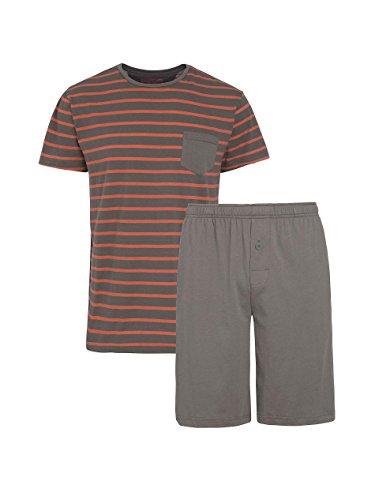 Jockey Herren Pyjama Baumwolle Schlafanzug Einfarbig Grün 5XL