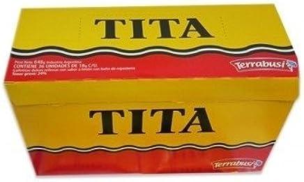 Terrabusi TITA Galletitas de Chocolate Rellenas con Sabor a Limon - BOX of 36.