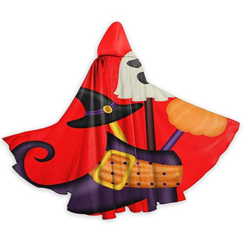 Joyeux Halloween sorcière Bottes Unisexe Capuche Cape Longue Cape avec Capuche Halloween Noël Cosplay Party Costumes Noir