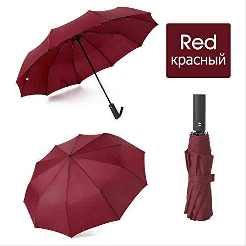 QNBD Starker Wind Regenschirm Regenschirm Männer Regenschirme Frauen Regenschirme Werbegeschenk Tragbarrot