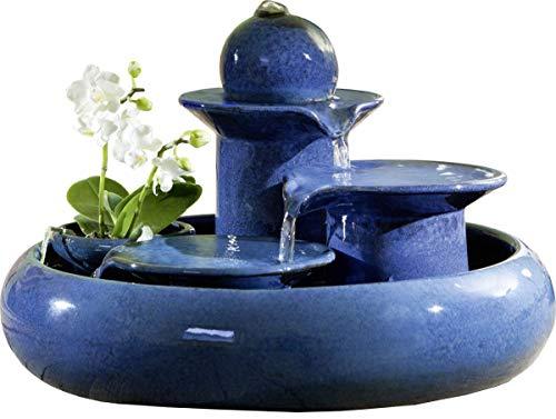 seliger Keramikbrunnen Locarno blau