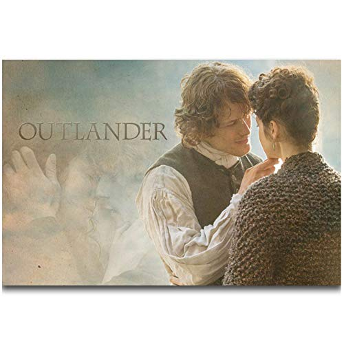 Jamie y Claire Outlander Season Series Show Painting Poster Prints Canvas Wall Picture For Home Room Decor-60x90cmx1pcs -Sin marco