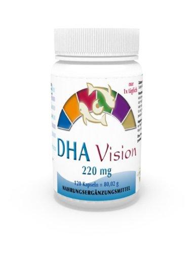 DHA Visión 220mg 120 Cápsulas - Omega 3 Salud de la Vista, Bienestar Ojos - Vita World Alemania