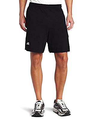 Russell Athletic mens Cotton & Jogger With Pockets Short, Basic Cotton - Black, X-Large US