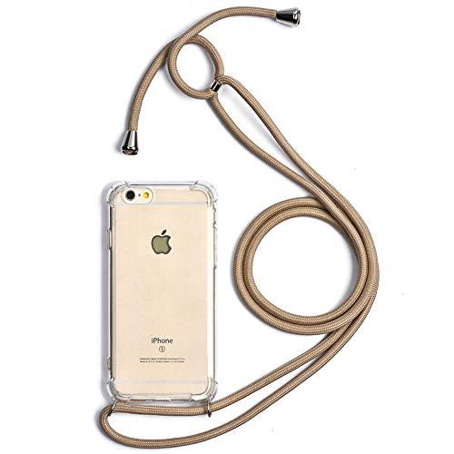 Trop Saint - Carcasa con cordón para iPhone 6 y 6S (Silicona), Color Beige