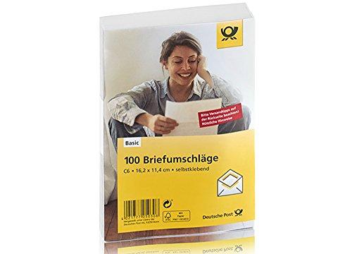 Deutsche Post 100 Umschläge C6 / weiß, selbstklebend, ohne Fenster