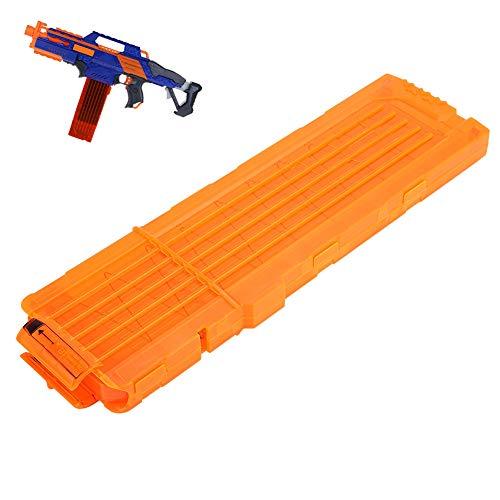 VGEBY1 Bullet Clip, Magazin Schaum Bullet Magazine Soft Bullet Clip Darts Toy Gun Zubehör(Transparent Orange)