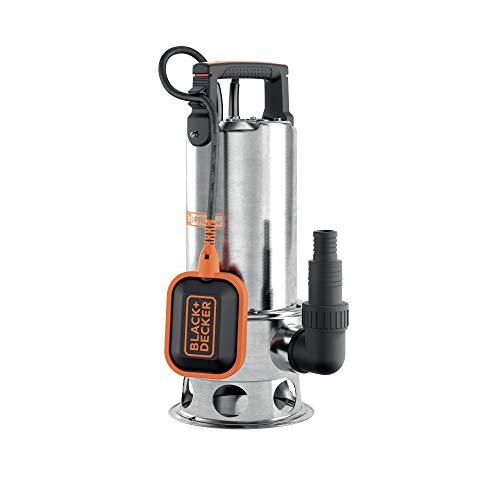 Black+Decker BXUP1100XDE Pompa Immersione per Acque Scure (1.100 W, Portata max. 16.500 l/h, Prevalenza max. 10,5 m)