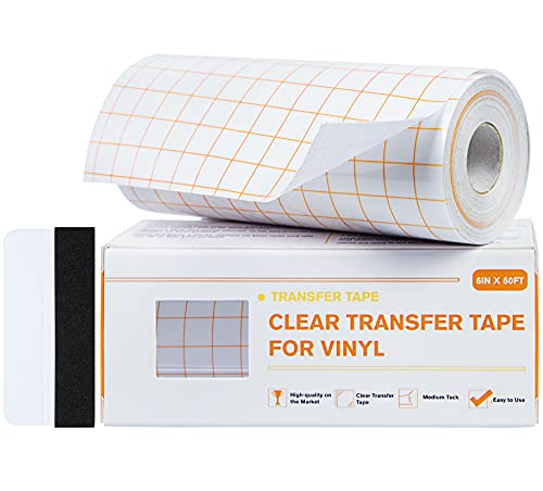 Hywean Vinyl Transferfolie Plotter Bandgitter, 15cm*15meter Übertragungsfolie Plotter,Transparentes Transferfolie für Vinyl, Transferband für Abziehbilder, Schilder, Wände & Glasoberflächen