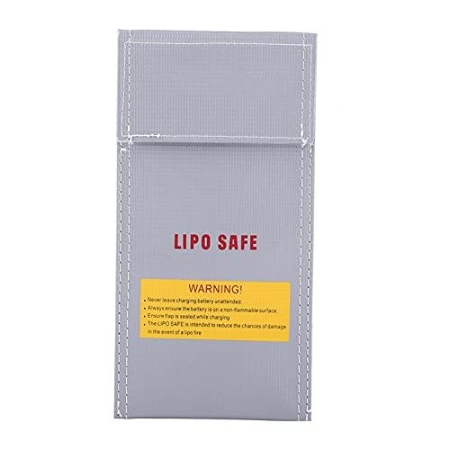 Bolsa de seguridad para batería, 1 pieza RC Lipo Portátil Seguro para baterías Bolsa de protección de carga Bolsa de protección a prueba de explosiones Protector de bolsa para carga y almacenamiento s