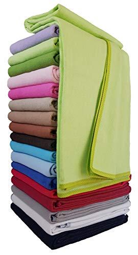 STTS International Baumwolldecke Wohndecke Kuscheldecke Tagesdecke 100% Baumwolle sehr weiches Plaid Korsika (Grün, 150 x 205 cm)