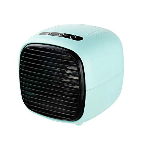 Lomelomme Climatizador portátil con refrigeración por agua – Climatizador portátil con 3 niveles – Potente mini enfriador de aire con depósito de volumen para casa, oficina, azul, Talla única