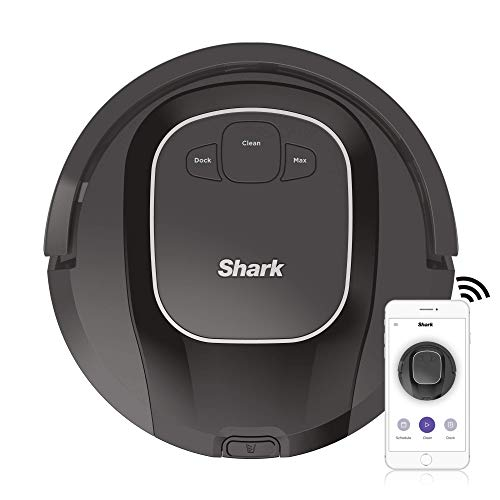 Shark ION R87, Wi-Fi Connected with Powerful Suction, Multi-Surface Brushroll and Voice Control with Alexa Robot Vacuum (RV871), 0.6 qt, Black (Renewed) Dining Features Kitchen Robotic Vacuums