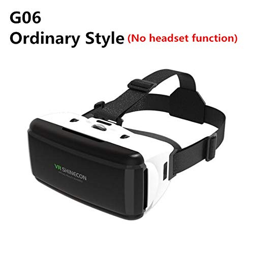 MeterMall VR Virtual Reality 3D Bril Box Stereo VR Google Karton Headset Helm voor IOS Android Smartphone, Bluetooth Rocker G06 Normale Editie