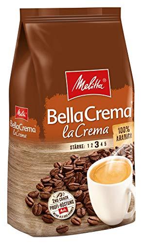 Melitta hele koffiebonen, 100% Arabica, gemiddelde roostgraad, dikte 3, BellaCrema la Crema