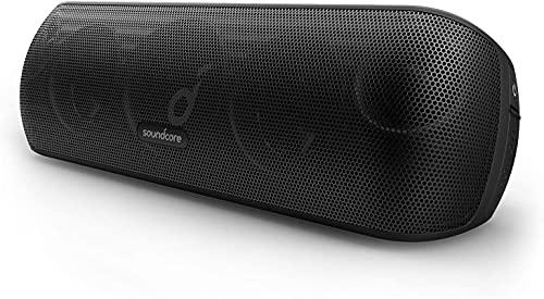 Soundcore Motion+ bezprzewodowy głośnik Bluetooth wysokiej jakości 30 W, rozszerzony bas i wysokie tony, z aplikacją, możliwość dostosowania EQ, 12-godzinny czas odtwarzania, wodoodporność IPX7, złącze USB-C