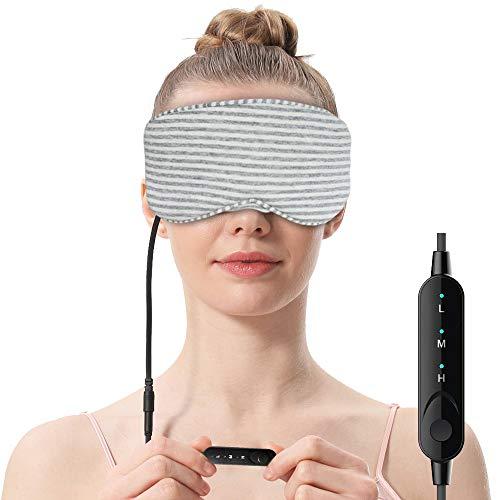AROMA SEASON® | Beheizbare Augenmaske für ultimative Entspannung ohne Duftzusatz | Wärmende Augenmaske aus Baumwolle