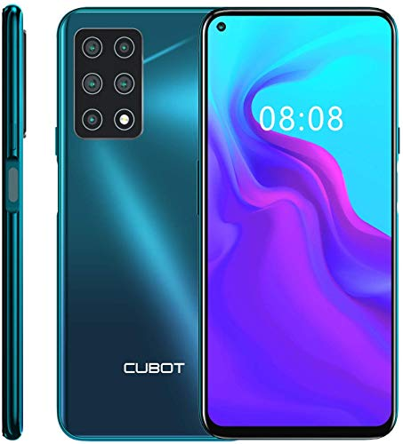 CUBOT X30 Unlocked Smartphone (6GB+128GB) with 6.4-Inch FHD+ Display,Five Al Cameras, Android 10, 4200mAh Battery, 4G Dual SIM Phone-Gradient Green