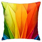 wteqofy Throw Pillow Covers Modern Decorative Throw Pillow Case Colorful Origami Pillow Covers Cushion Case for Room Bedroom Room Sofa Chair Car,18 X 18 Inch