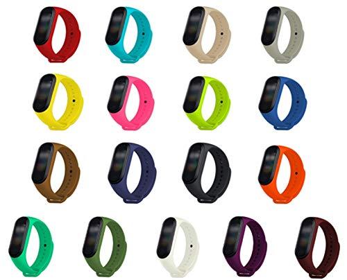 Adecuado para la Banda Xiao MI 4/3 Correas, Pulsera de reemplazo de Silicona, 17 PCS Xiao MI Banda 4/3 Correa de Gel de sílice, Resistente, Transpirable, Impermeable y Anti-Sudor, Reloj Inteligente,