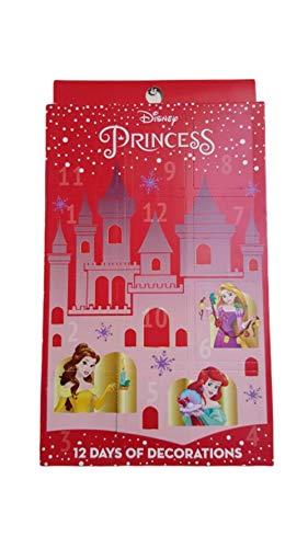 Calandro de Adviento con Licencia de Disney Princesa, 12 días de decoración, para Colgar en el árbol