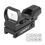 AOMEKIE Red Dot Visier Airsoft mit 20mm/22mm Schiene Leuchtpunktvisier Rotpunktvisier mit Tactical 4