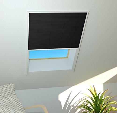 Sonnenschutz Dachfenster Plissee 110x160cm weiss 101180101-VH