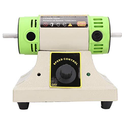 Lucidatrice da banco, macchina tampone per lucidatura da banco + lucidatrice per gioielli con 2 ruote lucidanti per uso professionale e uso domestico - Velocità di rotazione rapida(Unione Europea)