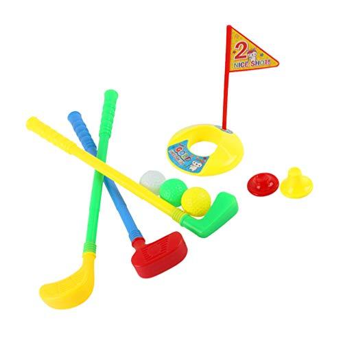 VOSAREA Kinder Golfschläger Set Kunststoff Kinder Golfanzüge Outdoor Sport Kit Training Golf Lernspielzeug Früherziehung Übungsspielzeug für Kinder Jungen Mädchen