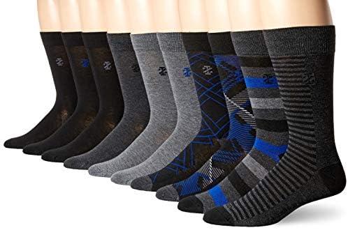 Izod Men s 10PK Dress Socks Black Assorted Fashion 10 13 product image