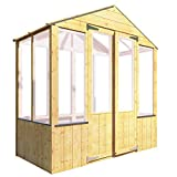 BillyOh 4000 Lincoln Wooden Polycarbonate Greenhouse (3 x 6)