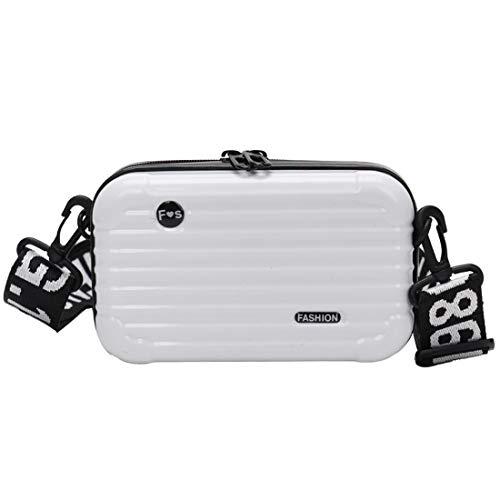 TQ Damen Designer-Handtasche mit Handgelenk, Hartschale, klein Gr. One size, weiß