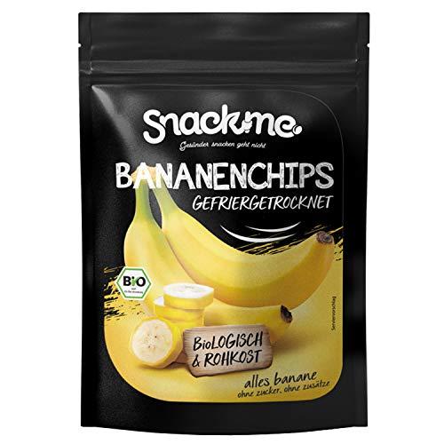 Bio getrocknete Bananen Bananenchips Bananenscheiben Fruchtchips knusprig gefriergetrocknet 200g ohne Zucker ungeschwefelt naturbelassen