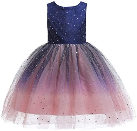 Glamulice Princess Sparkle Tulle Dress Flower Girls Navy Blush Pink Holiday Lace Bridesmaid product image