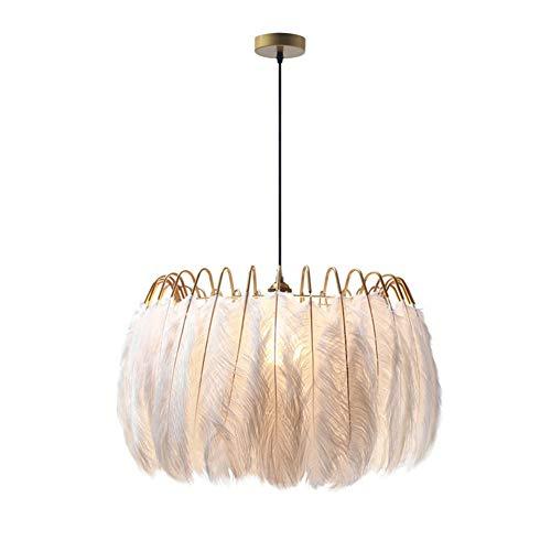 Feder Lampe Moderne nordische Fee Feder Kronleuchter Lampe Loft Pendelleuchte Lichter Living Suspension Leuchten,60cm