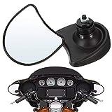 Wanlianer-Accessories 1 Paire Miroirs Vue arrière (Gauche et Droite) Carénage Mont Aile Vue arrière Miroirs 10mm for Harley Davidson Street Glide FLHX (Couleur : Noir, Taille Show)
