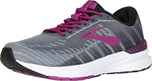 Brooks Women's Ravenna 10, Grey/Wild Aster, 12 D
