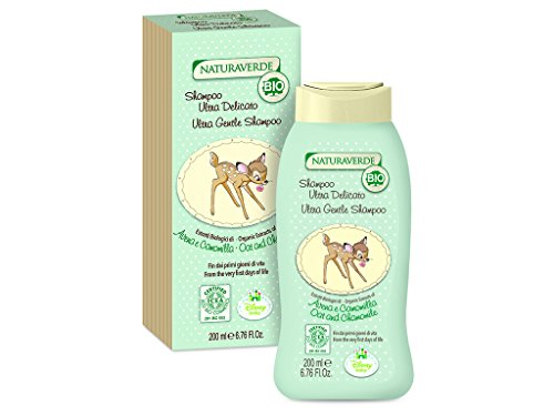 Disney baby BIO ICEA Eco Cosmetics - Ultra zachte shampoo met haverextracten en kamille - bambi, 200 ml