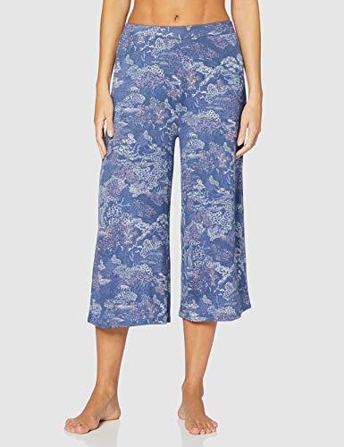 Women'secret, Pijama Mulan Capri para Mujer, Azul Oscuro, XXL