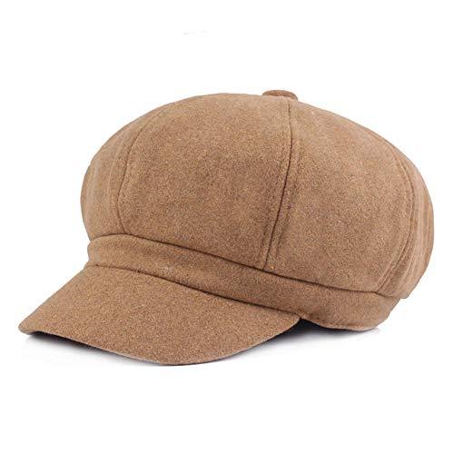 Mode vrouwen wollen achthoekige hoed breed gerande hoed baret casual herfst en winter warme hoed solide elegante dame krant jongen hoed casual